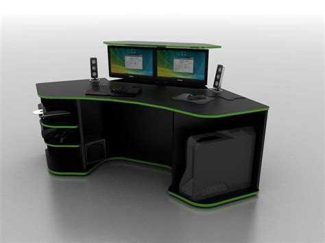 Desks For Computer Gaming R2s Gaming Desk By Prospec Designs Be Smarter Be Better My Designs Pinterest Desks