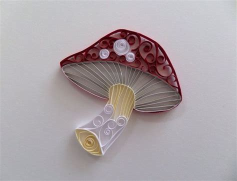 mushroom home decor quilled paper mushroom for home decor red and white