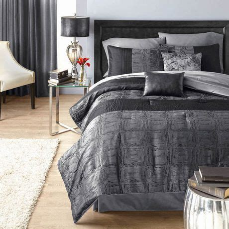 hometrends crocodile black king comforter set walmart ca