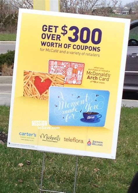 Mcdonalds Gift Card Purchase - mcdonald s bonus gift card offer retailer savings and mcdonald s freebies mission