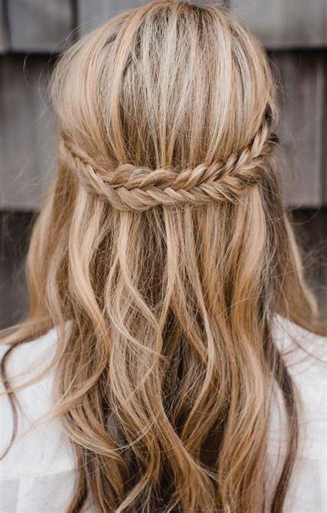 half up half braid hairstyles boho wedding hairstyles