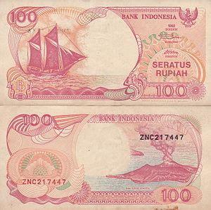 Uang 100 Th 1992 rp100 bahasa indonesia ensiklopedia bebas