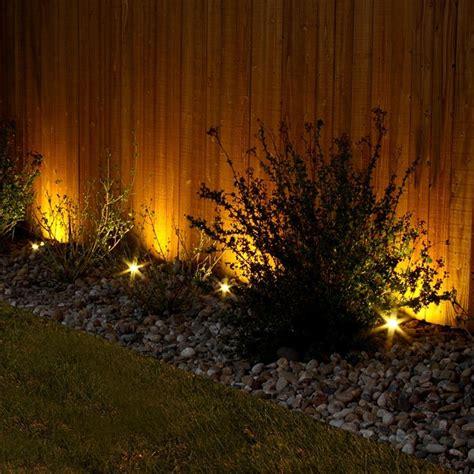 superb garden fence lighting ideas