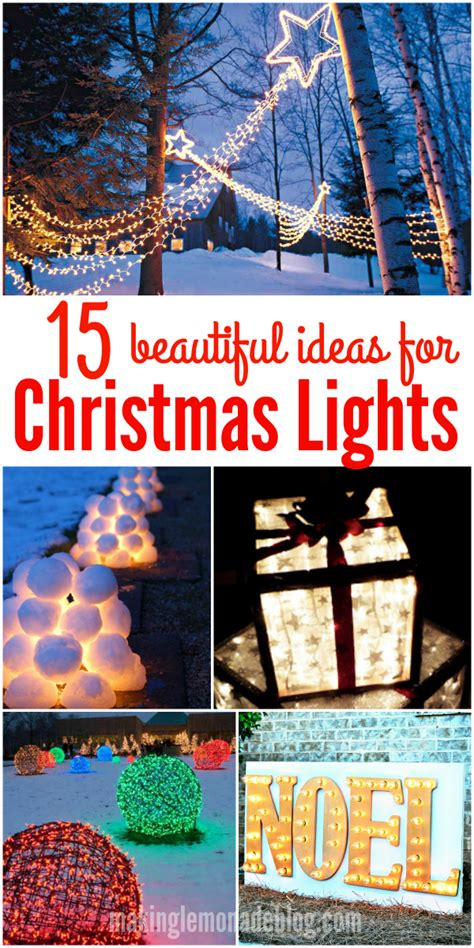best christmas light decoration in point cook 15 beautiful outdoor lighting diy ideas lemonade