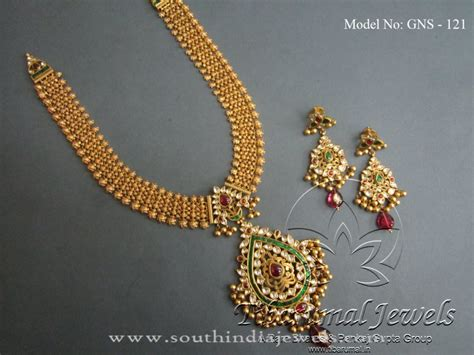 gold jewellery necklace set from tibarumal south india