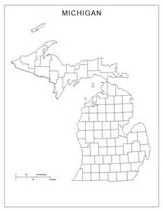 Printable Outline Of Michigan by Michigan Blank Map