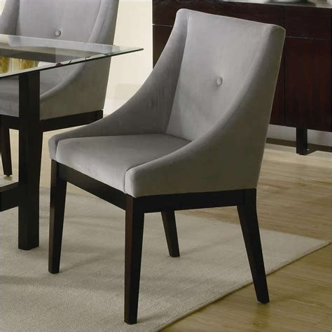 dining room end chairs coaster alvarado upholstered dining chair in cappuccino