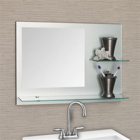 large frameless bathroom mirror all mirrors wayfair samara frameless bathroom mirror with