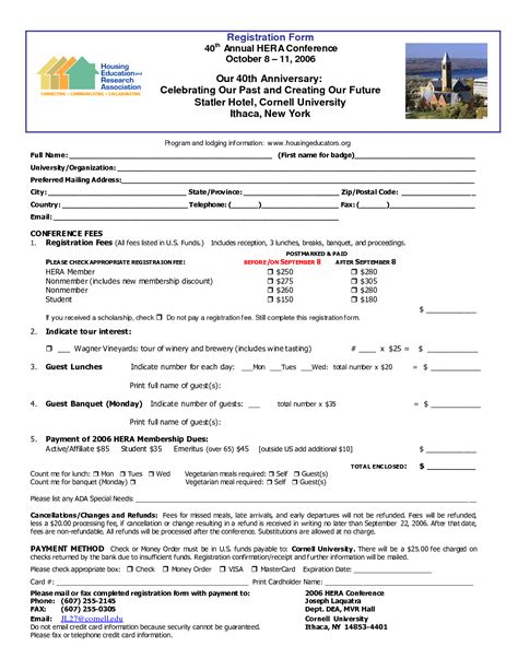 retreat registration form template 62 womens conference registration form template