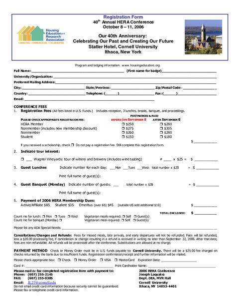 conference registration form template best photos of seminar registration form template