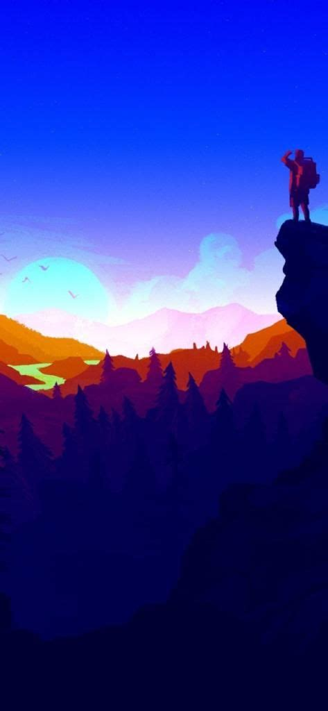 iphone   wallpaper firewatch blue awesome wallpapers