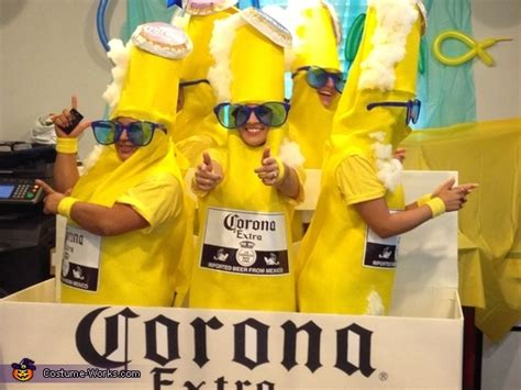 corona  pack group halloween costume photo