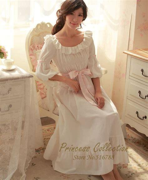 Royal Pyjamas B free shipping 100 cotton princess nightdress royal pajamas white nightgown wedding