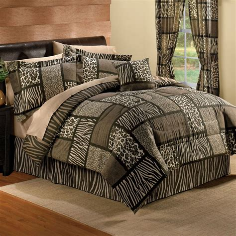 safari comforter set new brown leopard zebra animal print safari comforter set