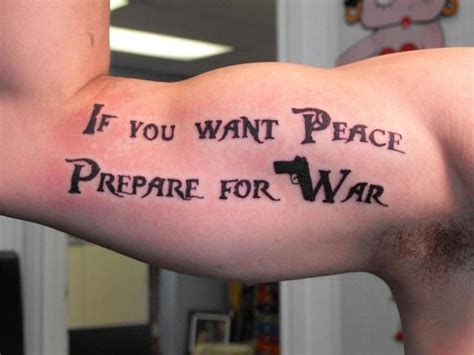 preparing for tattoo if you want peace prepare for war quotes quotesgram