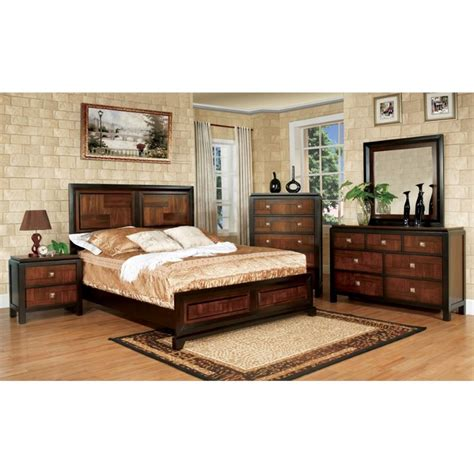 4 piece bedroom furniture sets furniture of america delia 4 piece queen panel bedroom set