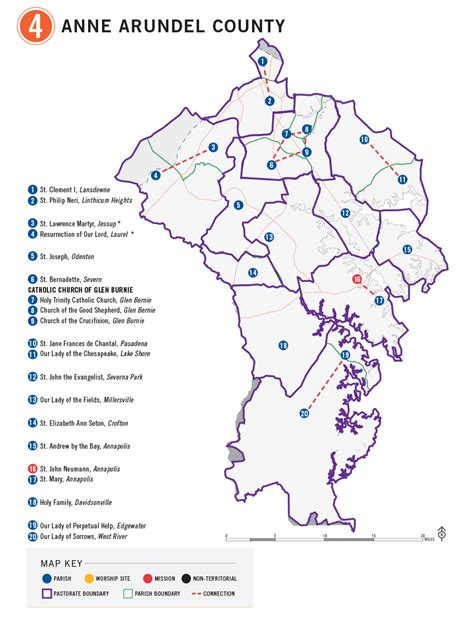 maryland map arundel county be disciples pastorate maps