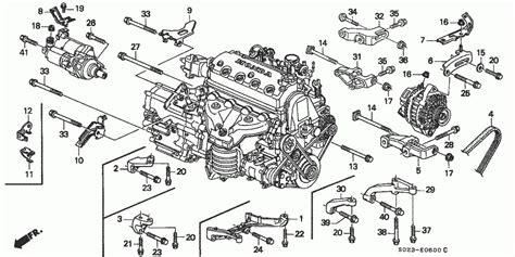 alternator bracket engine stiffener honda oem parts