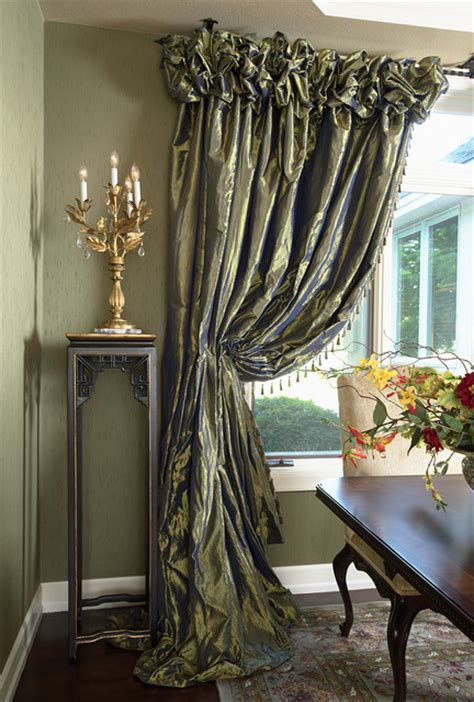 Home Decorators Fabric by Dining Room Draperies Contemporary Dining Room