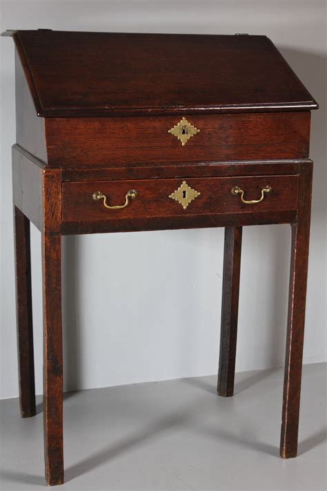 small 19th century slant top desk on legs r415 antiques