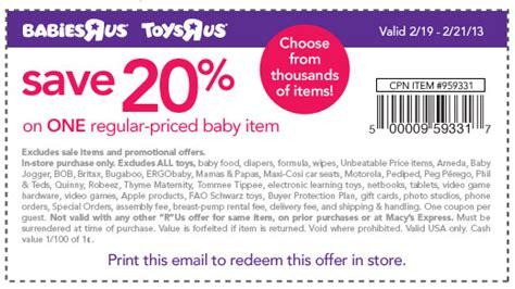 20 off babies r us printable coupon 2013 toys r us coupon new 20 off toys r us or babies r us