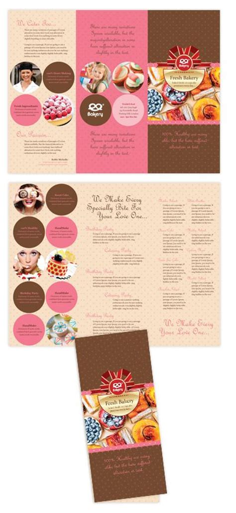bakery brochure template bakery tri fold brochure template brochure ideas for