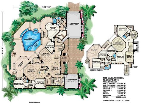 House Plans For Florida Luxury House Plans Mediterranean Home Design Vasari 11521