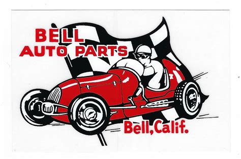Auto Racing Decals by Bell Auto Part Racing Decal Sticker Vintage Style
