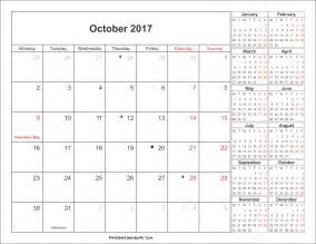 Calendar 2017 October Events October 2017 Calendar Singapore Printable Template With