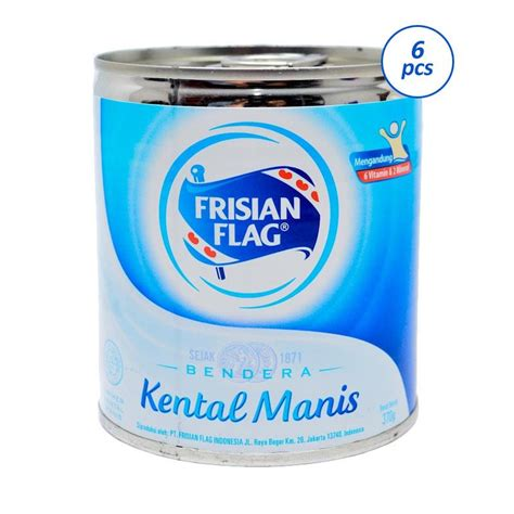Kental Manis Frisian Flag Putih Jual Frisian Flag Kental Manis Can 370 Gr 6pcs