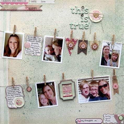 scrapbook layout idea books layout mini pegs scrapbook pinterest