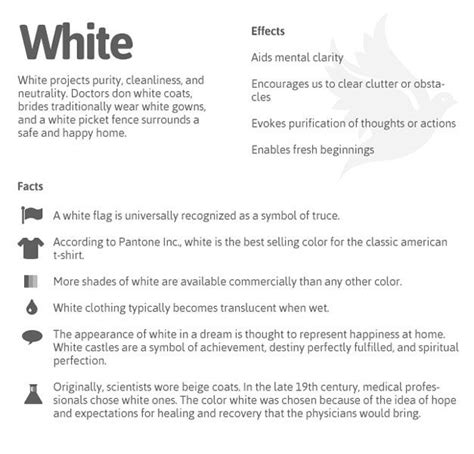 the psychology of white color meanings