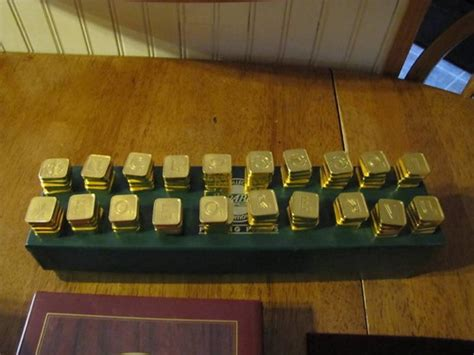 scrabble gold edition the franklin mint scrabble gold collector s edition