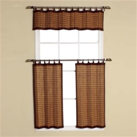 bamboo valance curtains easy glide all natural bamboo ring top window curtain
