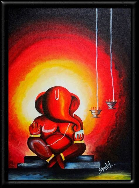 contemporary painting ideas modern painting of ganesha www pixshark com images