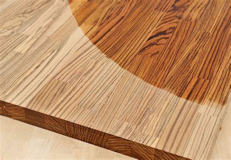arbeitsplatte zebrano arbeitsplatte k 252 chenarbeitsplatte massivholz zebrano kgz