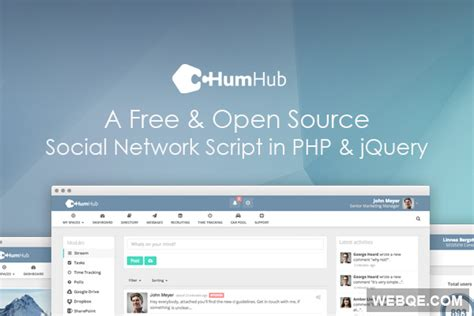 best social networking script humhub a free and trendy social network script in php