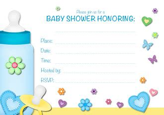 free printable baby boy shower invitation templates