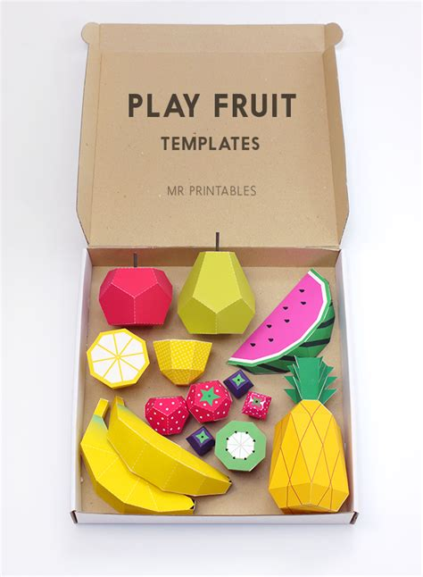 play card board template play fruit paper toys by mr printables jelanie