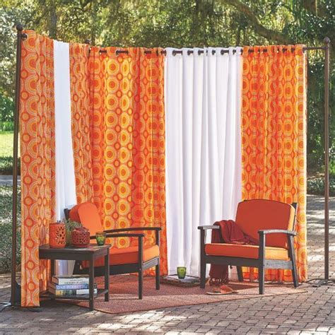 outdoor privacy curtain 17 best ideas about outdoor curtain rods on pinterest