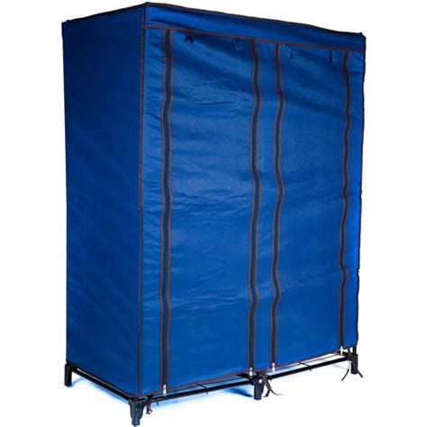 trademark home 4 shelf portable closet navy blue