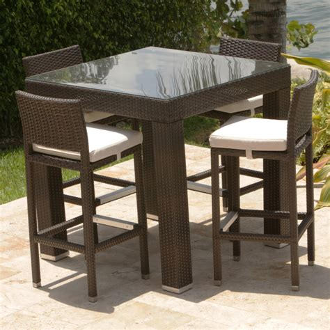 Patio Furniture Bar Height Set Bar Height Patio Dining Sets Patio Design Ideas