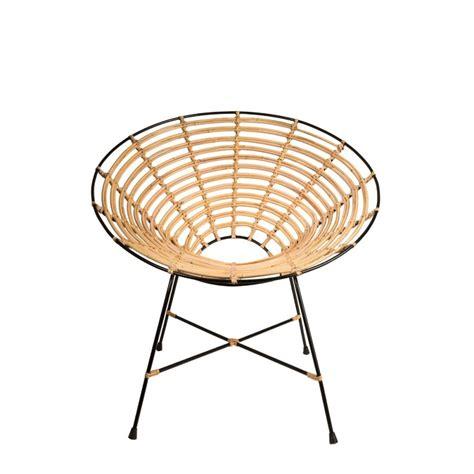 fauteuil rond rotin fauteuil rond m 233 tal et rotin kubu