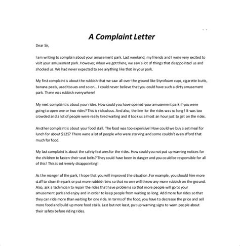 Complaint Letter Template Microsoft Word letter of complaint template 10 free word pdf documents free premium templates