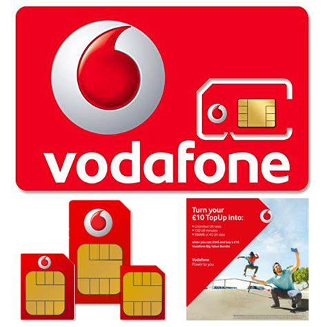 vodafone uk number from mobile payg pay as you go vodafone standard micro nano sim card