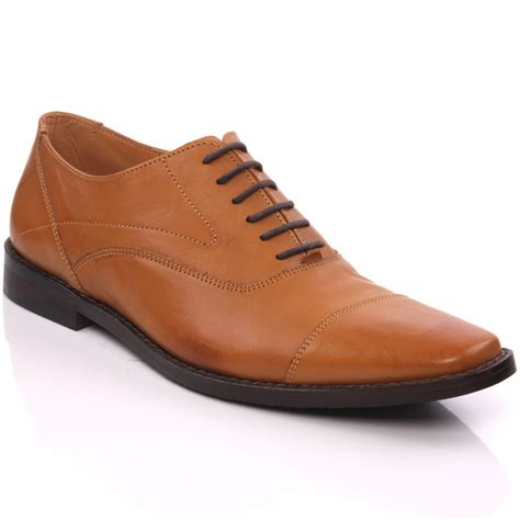unze mens dock leather laced up office dress