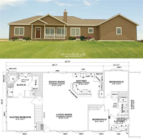 home builders house plans wardcraft homes astoria ii 1 860 sq ft prefab flloorplan