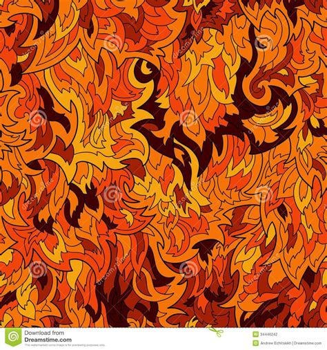 seamless fur  flame pattern background stock vector