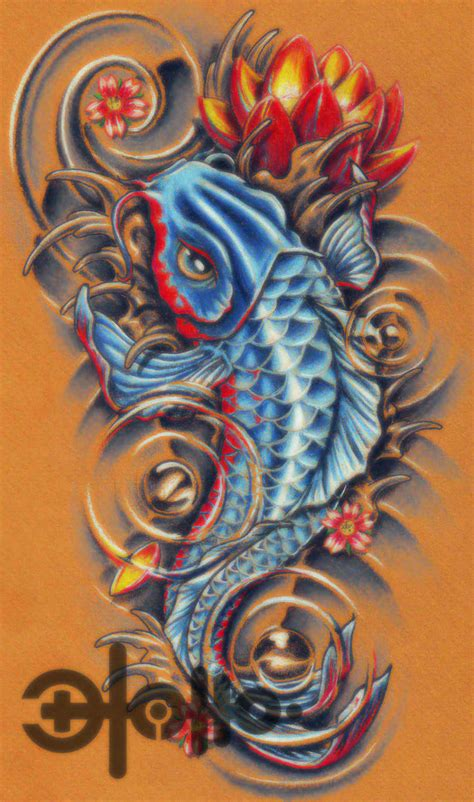 bad fish tattoo image detail for koi fish tattoos free