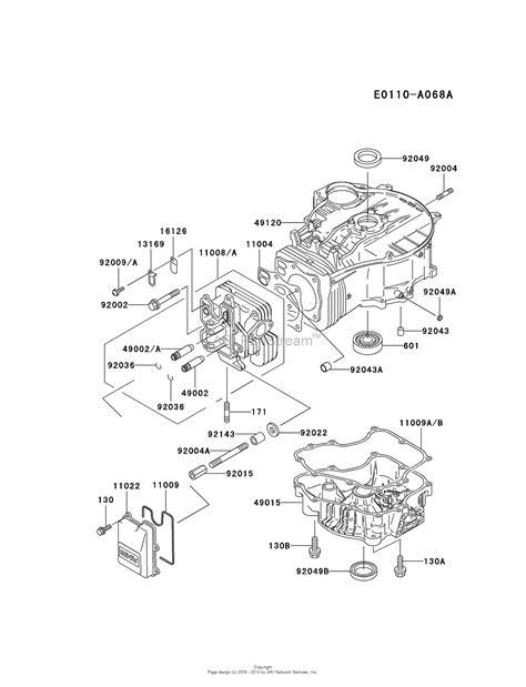 kawasaki small engine parts diagram kawasaki fc400v as00 4 stroke engine fc400v parts diagram